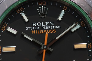 rolex 116400gv ミルガウス表記